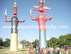 jaipur tour - huge effigies of demon king Ravana and his son Meghnada