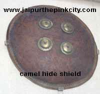 Camel Hide Shield in Albert Hall Museum of Jaipur