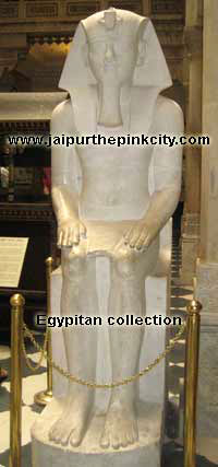 Eqyptian collection in albert hall museum jaipur