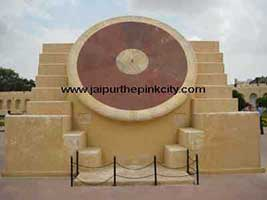 Nothern Dial of Nadivalaya instrument in Jantar Mantar Jaipur
