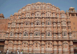 Jaipur : Hawa Mahal (also known as Wind Palace) is the icon of Jaipur tourism.
