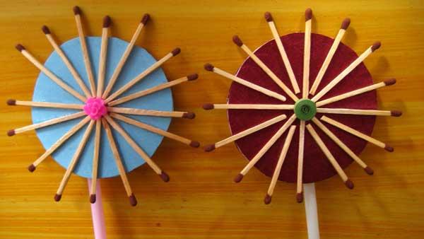 Handmade Flowers of Matchsticks