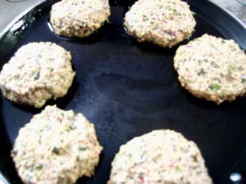Veg Soya Kebab Frying on Tawa