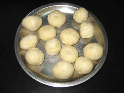 Balls Made of Kneaded Maida For Gujiya Recipe