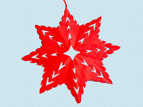 Learn to make paper snowflakes in Hindi