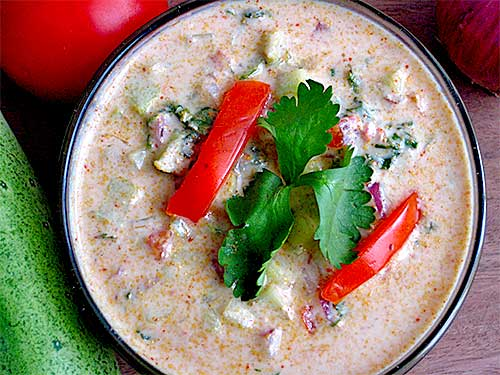 Mix Veg Raita Recipe in Hindi
