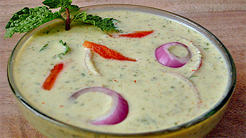 Mint Onion Raita Recipe in Hindi