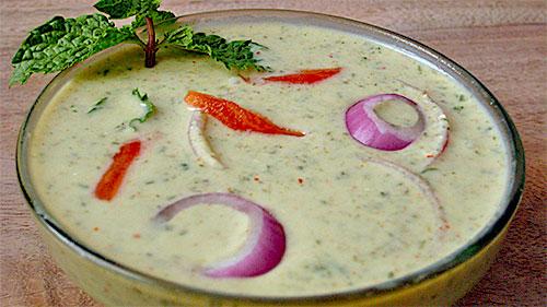 Mint Onion Raita Recipe in Hindi