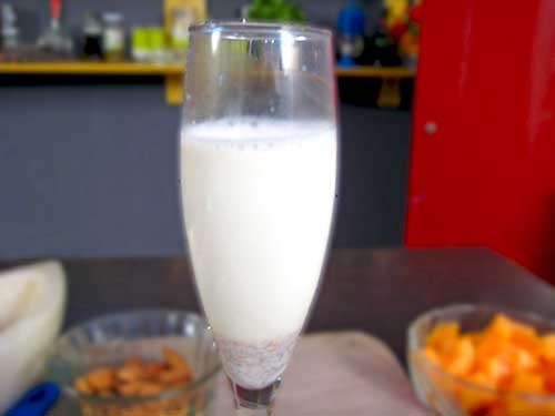 Combination of milk and almond