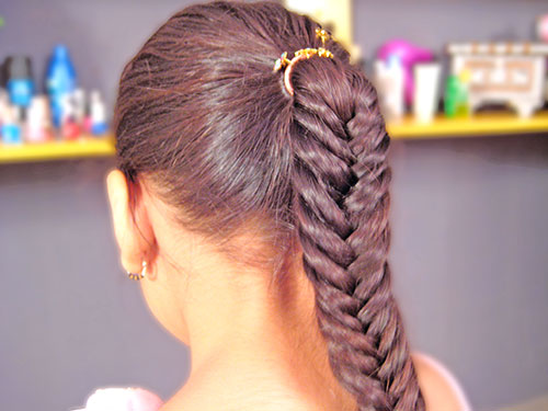 Fishtail Braid Hairstyle Tutorial