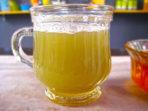 Combination of bottlegourd juice and honey