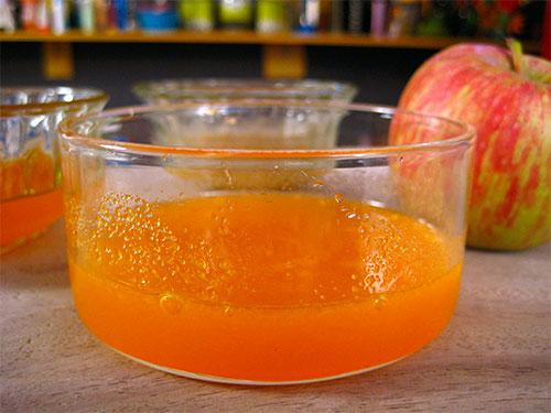 Combination Of Orange Juice And Apple Pulp